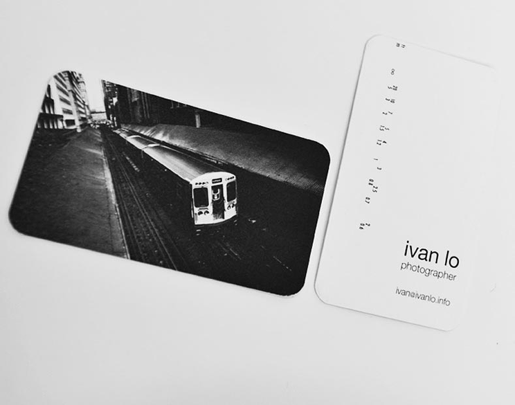 Business Cards for Photographer Ivan Lo