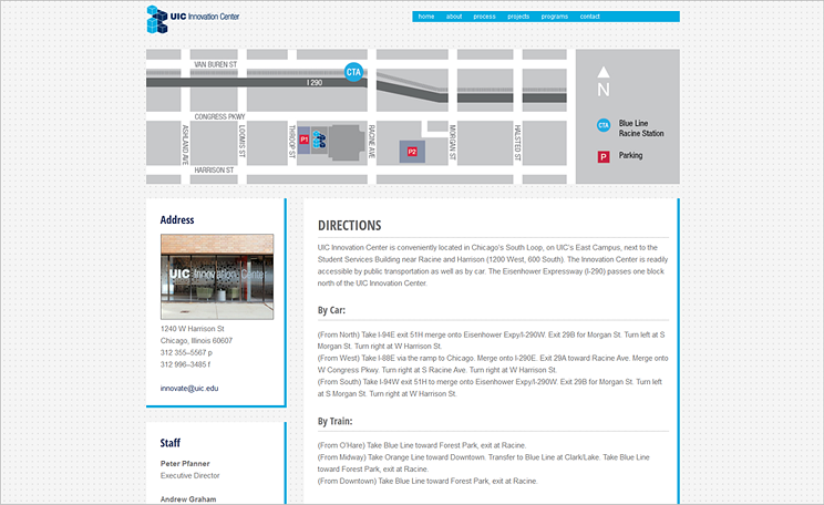 UIC Innovation Center Website