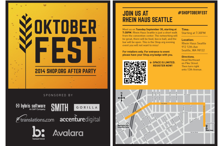 Hybris Convention After Party Flyer
